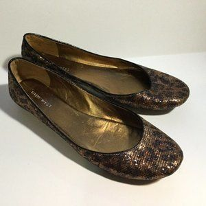 2 for $25 Nine West Size 8.5  Leopard flats